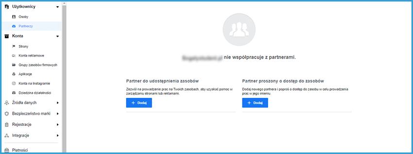 Jak dodać agencję lub partnerów do Fanpage'a na Facebooku?