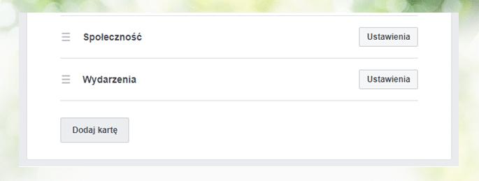 Dodawanie karty sklepu na Facebooku