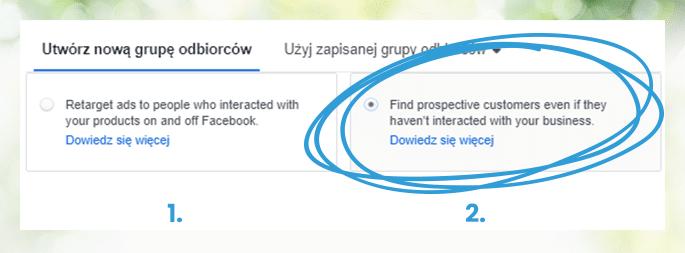 Sklep na Facebooku i Reklamy Katalogowe - Tworzenie grup odbiorców