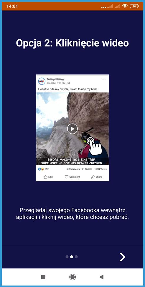 Jak pobrać film z Facebooka - aplikacja mobilna