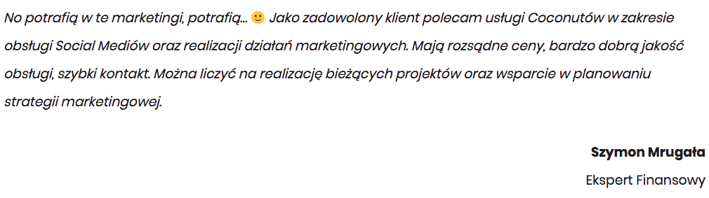 Gdańsk - Opinia Klienta o Social Media
