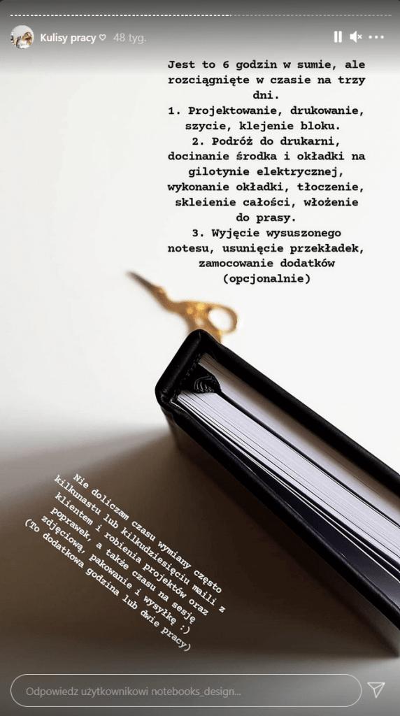 Insta Stories od kuchni - marka na instagramie.