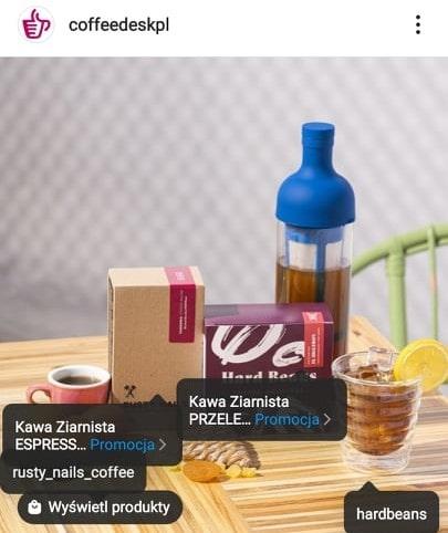 Oznaczanie produktów na Instagramie.