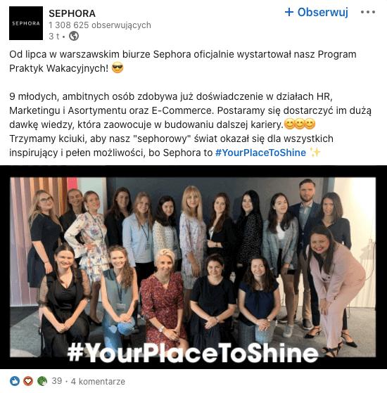 Branża beauty w social mediach - LinkedIn.