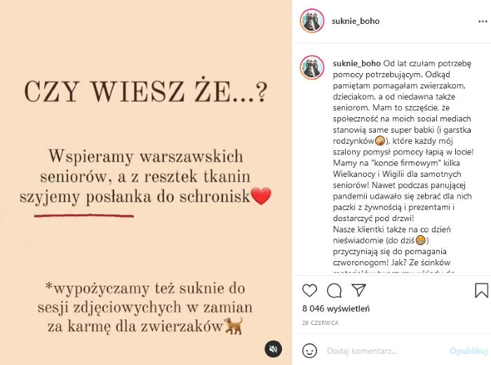 Instagram dla branży fashion - przykłady dobrych praktyk.
