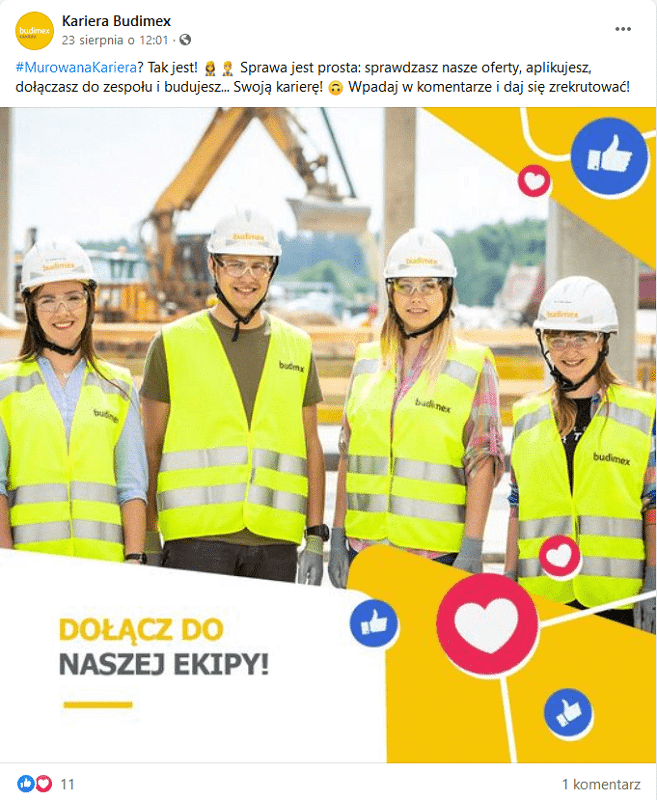 Branża budowlana - rekrutacje w social media.