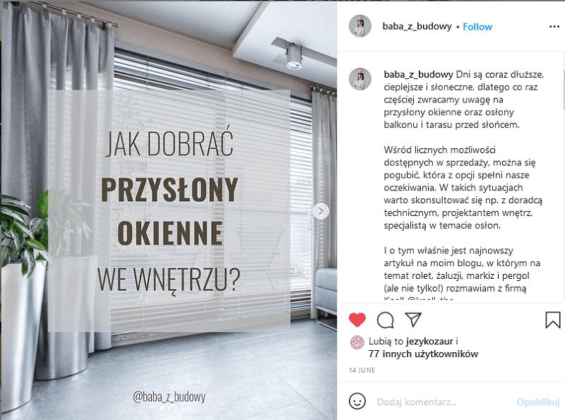 Branża budowlana na Instagramie.