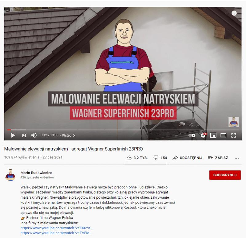 YouTube - branża budowlana
