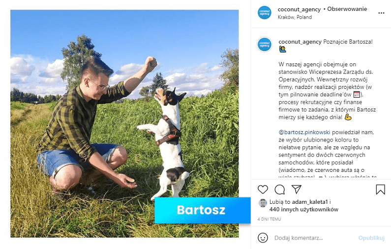 Employer branding na Instagramie.